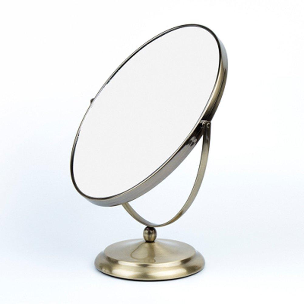 Stainless steel mirror European hd desktop mirror Double mirror-for hotels, Bedrooms-D 10inch