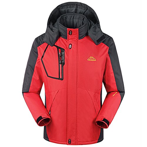Coats and Jackets Big and Tall Warm Ski Fleece Plus Red 3XL (Tip Coupe)