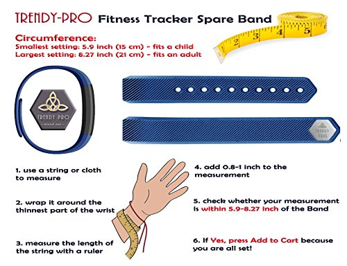 Trendy Pro Fitness Tracker with 2 Bands for Android and iOS