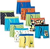 Amazon Brand - Spotted Zebra Boys' 10-Pack Boxer Brief Underwear