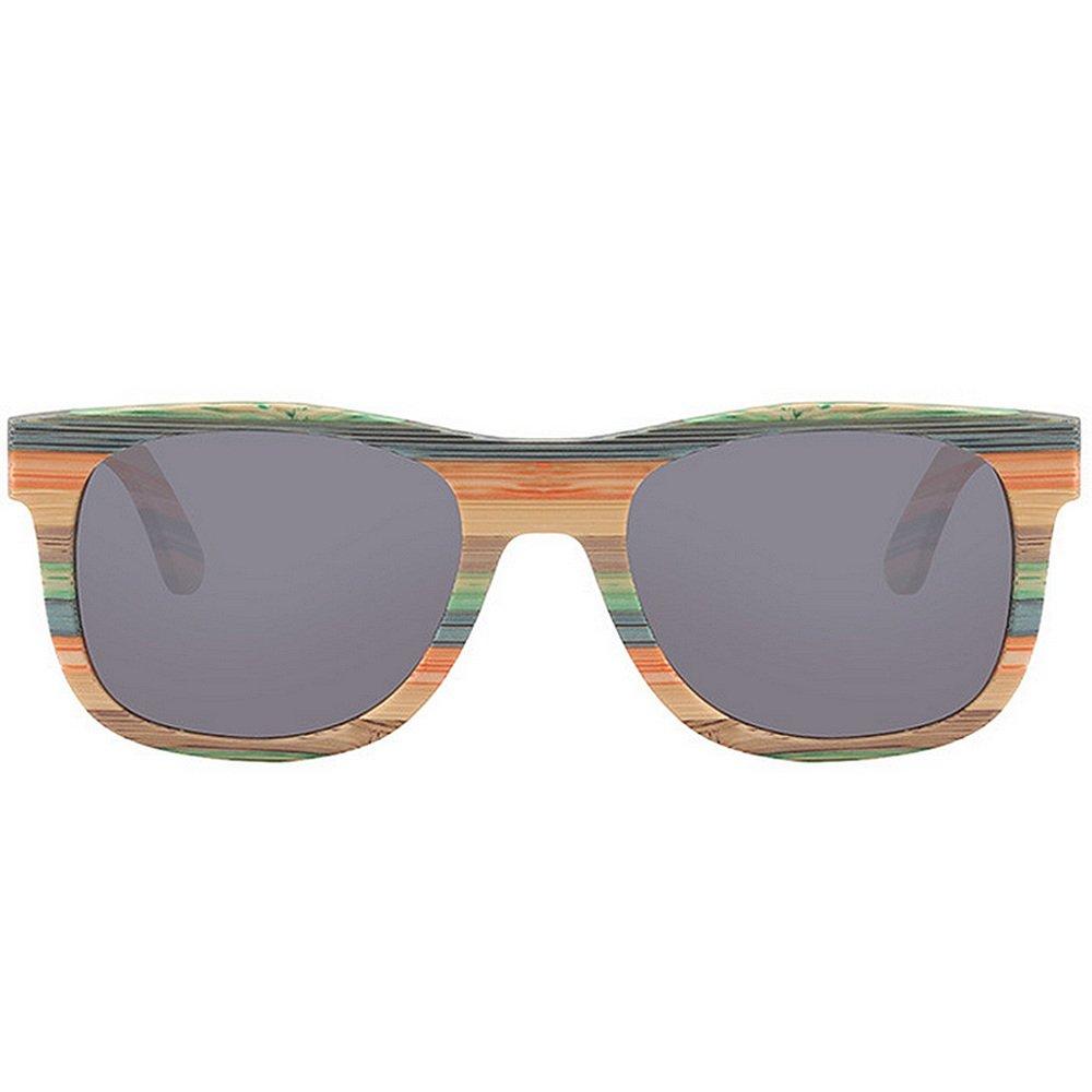 SunglassesMAN Yxsd Gafas de Sol de Pesca de Madera rayadas Retro polarizadas de los Hombres de Las Gafas de Sol (Color : Gray): Amazon.es: Hogar