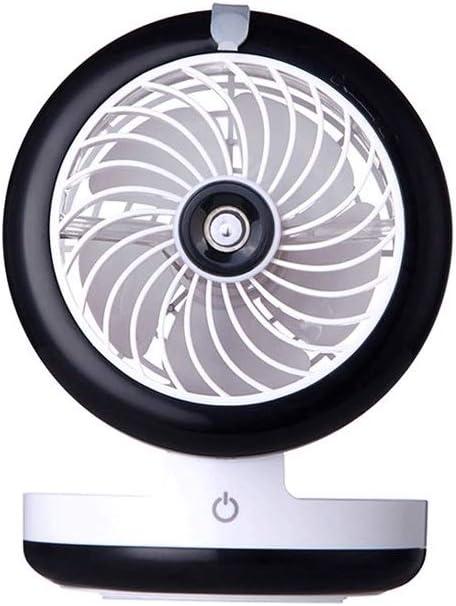 SCDFS Ventilador Mini Classic Personal Vintage Air Circulator, Negro, Azul, Rosa (Color : Black)