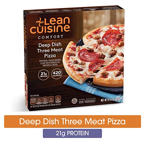 LEAN CUISINE COMFORT Deep Dish Three Meat Pizza 6.38 oz. Box | Delicious Frozen Meals