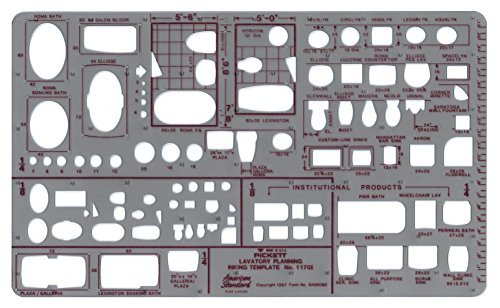 (Pickett Lavatory Planning Template, Scale: 1/8 and 1/4 Inch)