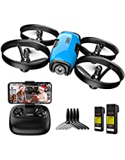 SANROCK U61W Drone with Camera for Kids Adults Beginner 720P HD & 2 Batteries, Mini Drone Toy Gift for Boy Girl WiFi FPV RC Quadcopter, Route Making, Headless Mode, Altitude Hold, Emergency Stop photo