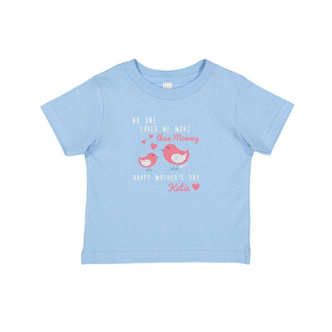 Personalized Gifts Mothers Day Outfit with Pink Custom Text Infant T-Shirt