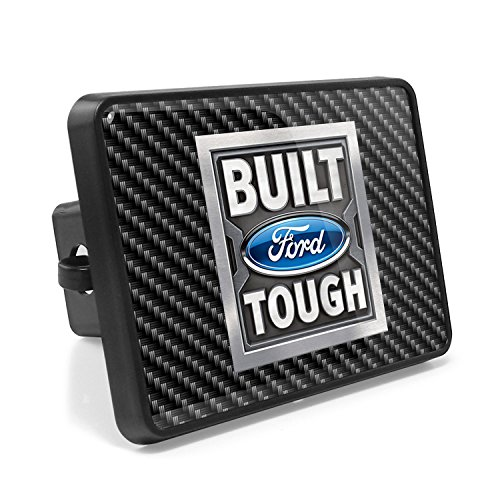 iPick Image Ford Built Ford Tough Carbon Fiber Look UV Graphic Metal Plate on ABS Plastic 2