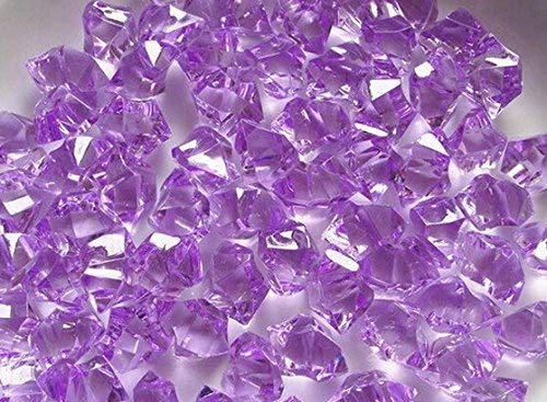 Demoon- Rocks-Acrylic Clear Colored Ice Rock Cubes 300g/bag, Vase Filler or Table Decorating Idea (purple) for $<!--$5.90-->