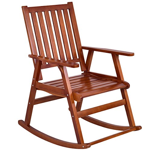 Pine Wood Rocking Chair Patio Seat with Armrest with ()