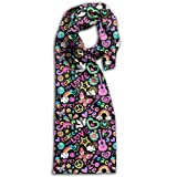 Unique Peace Love And Music Pattern Adult Unisex Double Side Printing Fashion Scarves 71'' X 10''