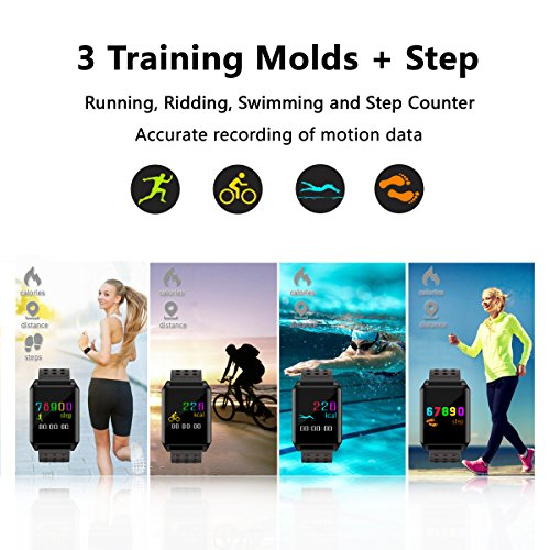Fitness-Tracker-Watch-Color-Screen-with-Heart-Rate-Monitor-Waterproof-Activity-Tracker-for-Swimming-Sport-Steps-and-Sleep-2-Bands-Stainless-Steel-and-Silicone-Straps-by-E4go