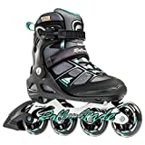 Rollerblade Macroblade 80 Alu 16 All Purpose Skate, Black/Light Green, US Size 7