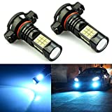 JDM ASTAR 2400 Lumens Extremely Bright PX Chips 2504 PSX24W LED Fog Light Bulbs for DRL or Fog Lights, Ice Blue