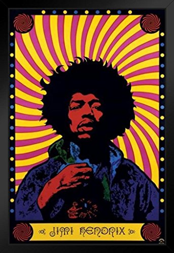 Pyramid America Jimi Hendrix Psychedelic Music Framed Poster 14x20 inch
