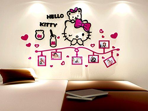 Hadaboo Cute Cartoon 3D Acrylic Crystal Wall Sticker Kids Children Girls Bedroom Photos Frame Home Decor by Hadaboo