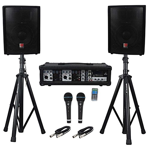 Rockville RPG2X10 Package PA System Mixer/Amp+10