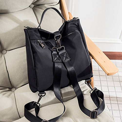 Hochwertige Rucksack Einfache Schultern Dual Schultertasche Temperament Mode Handtaschen , schwarz