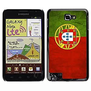 Shell-Star ( National Flag Series-Portugal ) Snap On Hard Protective Case For Galaxy Note / i717 / T879 / N7000 / i9220