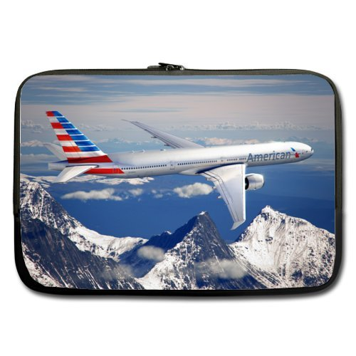 e2cbbe7b055c Mayers Low Cost 13 Inch Double-sided,No Straps 100% Water Resistant  Neoprene Aircraft Over The Snow Mountain Laptop Sleeve