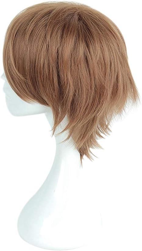 YY4 Peluca de pelo corto marrón de Cosplay para Ron Weasley ...