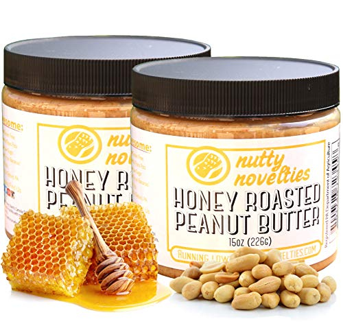 Roasted Natural - Nutty Novelties Honey Roasted Peanut Butter - High Protein, Low Sugar Healthy Peanut Butter - All-Natural Peanut Butter Free of Cholesterol & Preservatives - Crunchy Peanut Butter - 30 Ounces