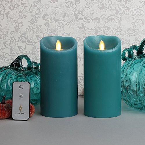 Luminara Set Of 2 Blue Sage 7 Quot Flameless Moving Wick