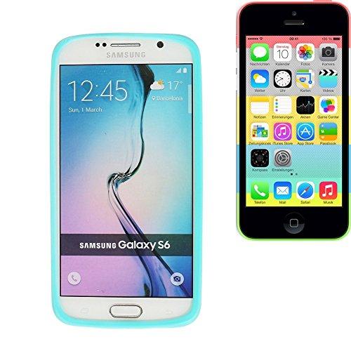 Silikonbumper / Bumper aus TPU für Apple iPhone 5c, Türkis / Blau   Schutzrahmen Schutzring für Smartphone Case Hülle Schutzhülle - K-S-Trade (TM) (Wir zahlen Steuern in Deutschland!)