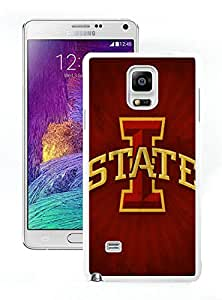Samsung Galaxy Note 4 NCAA Big 12 Conference Big12 Football Iowa State Cyclones 3 White Cellphone Case Unique and Popular Design