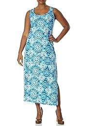 Love Collection Kaleidoscope Print Maxi Dress - Junior Plus Size, Tank Style, Spandex