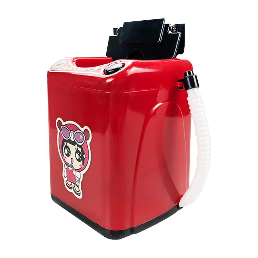 total-shop Children's Mini Washing Machine Toy, Makeup Brush Sponge Cleaning Equipment Girl Simulates Washing Machine Toy