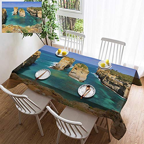 (simple color cotton linen tablecloth,washable, Australia Great Ocean Road Port Campbell National Park by the Great Ocean Road decorating restaurant - kitchen school coffee shop rectangular 35×35in)