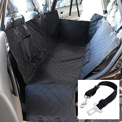 Dog Seat Cover Car Seat Cover for Pets Protection Hammock Cover Waterproof Scratch Proof Nonslip Backing Durable Backseat Dog Cover with Side Flaps for Car SUV Truck