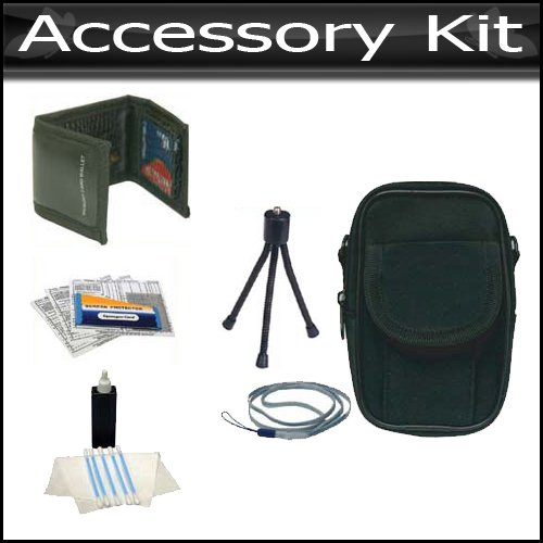 Accessory Kit For Sony MHS-CM5 bloggie HD Video Camera (Violet) NEWEST MODEL Includes 7-Inch Spider Flexible Tripod + Case, Mini Tripod, Neck Strap, Memory Card Wallet, Screen Protectors & Cleaning Fluid with Cloth + Microfiber Cloth