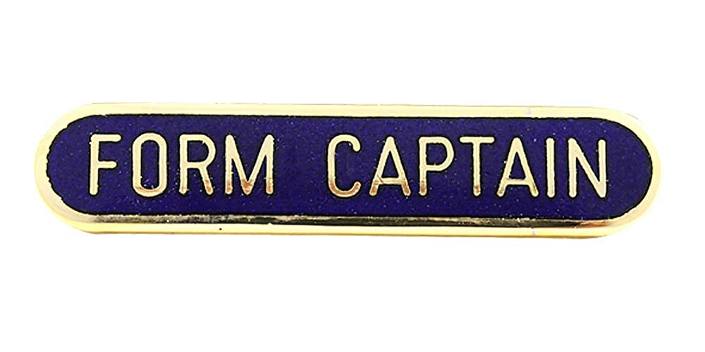 Form Captain School Bar Badge Handmade Vitreous Enamel