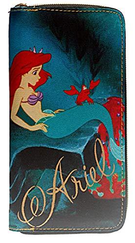 The Little Mermaid Zip Around Womens Hand Purse Clutch Wallet