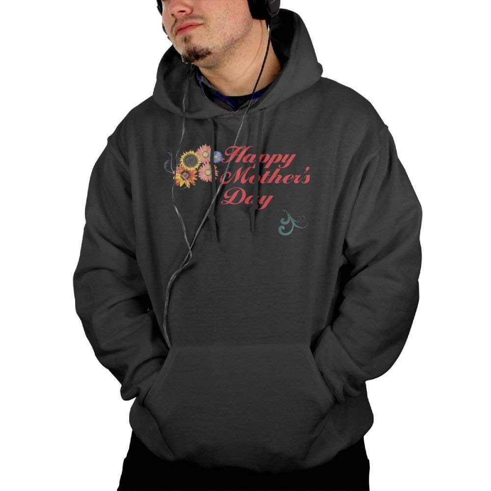 45299ac0bc276f Black indeaxwory Happy Mother's Day Men's Sweatshirt Sweatshirt Sweatshirt  Hoodies Full Apparel Printed with 2 Pockets Black 37f50d