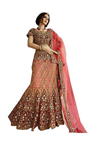 Fashions Trendz Indian Women Designer Wedding Bridal red Lehenga Choli K-3756-31438