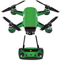 Skin for DJI Spark Mini Drone Combo - Lime Carbon Fiber| MightySkins Protective, Durable, and Unique Vinyl Decal wrap cover | Easy To Apply, Remove, and Change Styles | Made in the USA