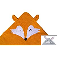 Hooded Towel for Baby, Toddler, or Kids, Fox Animal Soft Quality Cotton Towel