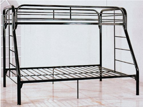 Twin / Full Bunk Bed in Black Metal ()