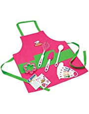 Curious Chef 11-Piece Girl's Kit,Pink and Green