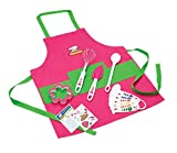 : Curious Chef TCC50186 11-Piece Kids' Chef Kit, Pink/Green