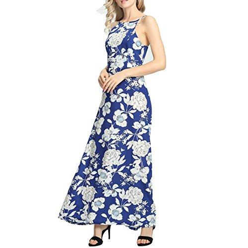 ... iShine Maxikleid Damen Lang Sommerkleid Ärmellos Neckholder Kleid  Strandkleid Bodenlanges Kleid Ip3iKbPNT ... f197ead374