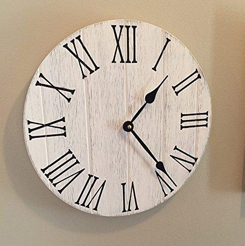 Farmhouse Kitchen Clock 12 Wooden Wall Clock Rustic