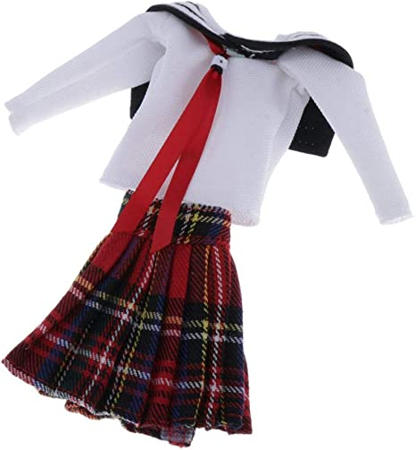 Amazon.es: SM SunniMix Mini Lindo Uniforme Escolar Falda para 1/6 ...