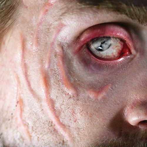 Tinsley Transfers SCARRED / Scars - Film Quality Realistic 3D Prosthetic Makeup FX Transfer. Apply With Water. ()