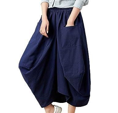 Pluderhose Mujer Pantalones Aladdin Linterna Casual Pantalones De ...