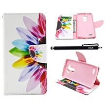 LG G4 Case, iYCK Premium PU Leather Flip Folio Carrying Magnetic Closure Protective Shell Wallet Case Cover for LG G4 with Kickstand Stand - Colorful Flower