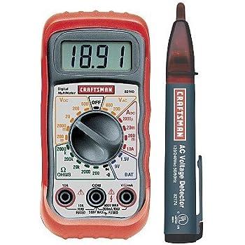 amazon com craftsman digital multimeter with ac voltage detector home improvement innova 3320 user manual innova 3320 multimeter manual