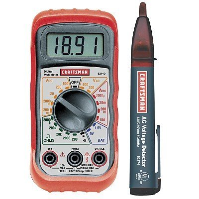 craftsman digital multimeter with ac voltage detector